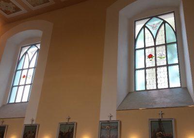 Kostel Větřkovice - gotická hliníková okna
