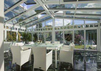 Luxusní zimní zahrada rodinného domu z hliníku