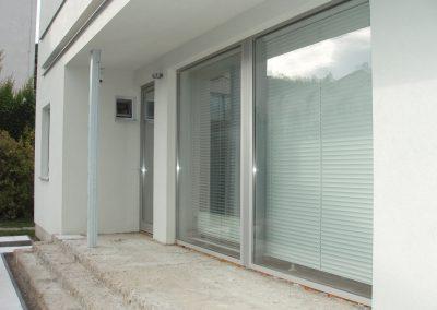 Hliníková okna a dveře RD Brno